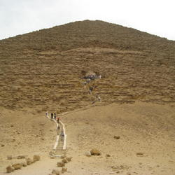The Entrance to the Red Pyramid at Dashur