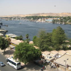 Nile River view from our Hotel